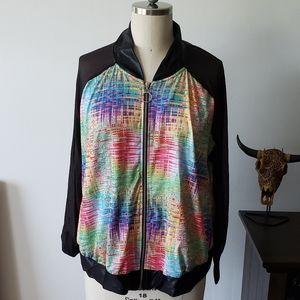 Multi Color Jacket with Mesh Sleeves